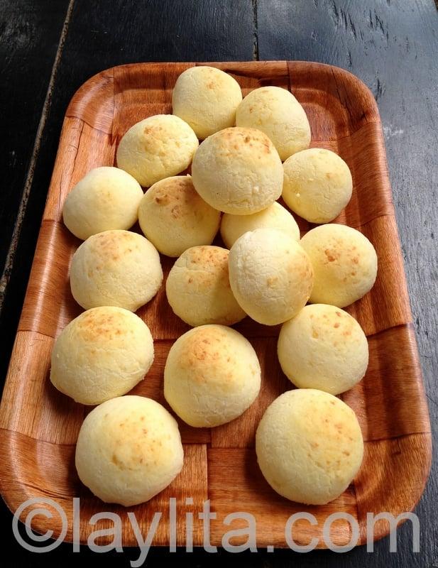 Recette de pains de yuca au fromage