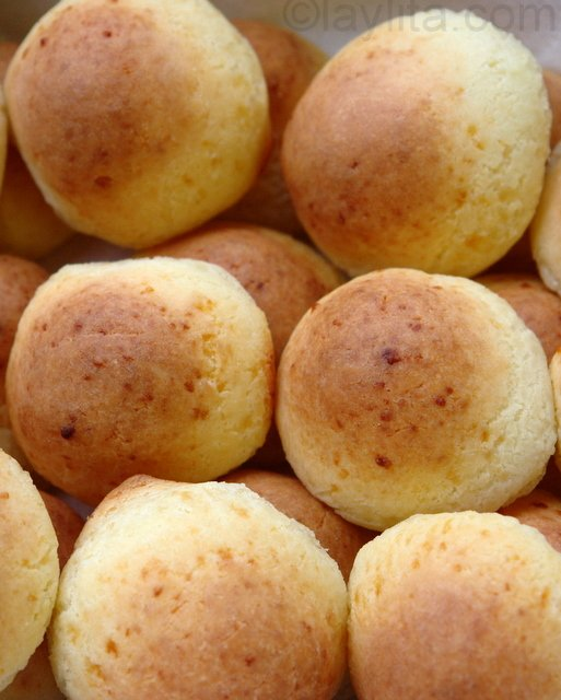 Pain de farine de yuca juste sorti du four
