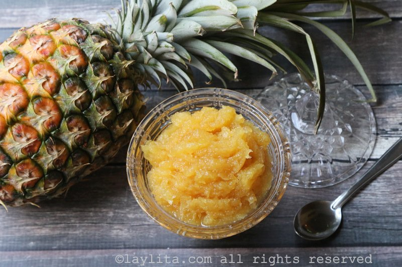 Pineapple marmalade or preserves recipe