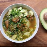 Quinoa soup with beef
