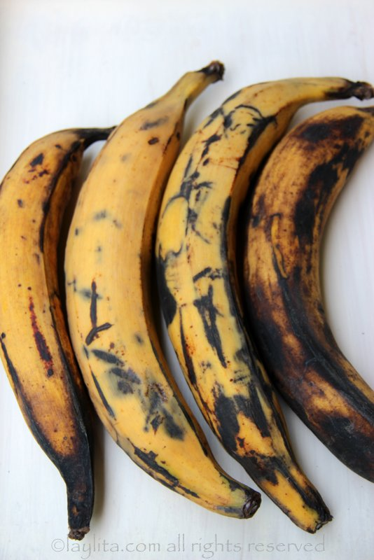 Ripe plantains for frying