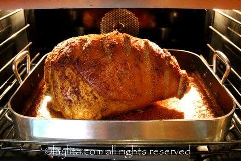 Roasting a whole pork leg