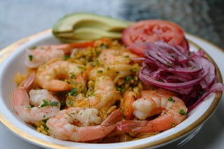 Ecuadorian arroz con camarones or shrimp rice