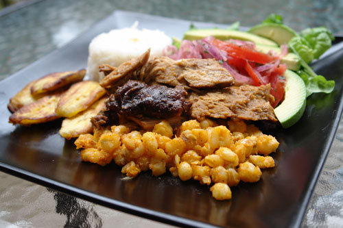 Ecuadorian hornado de chancho plate
