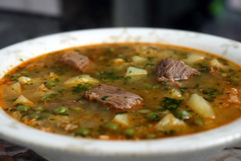 Quinoa soup with meat or sopa de quinua con carne - Laylita's Recipes