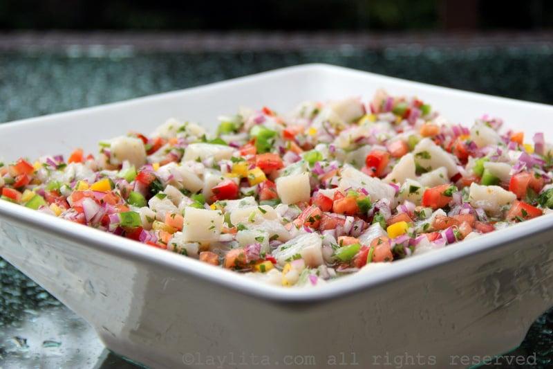 Ecuadorian fish ceviche {Ceviche de pescado ecuatoriano}