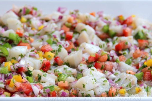 Recipe for Ecuadorian fish ceviche