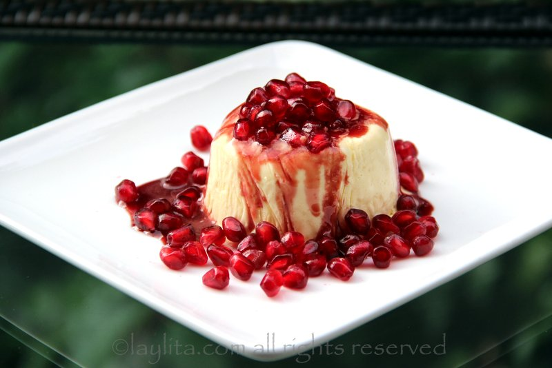 Honey mousse with pomegranate recipe