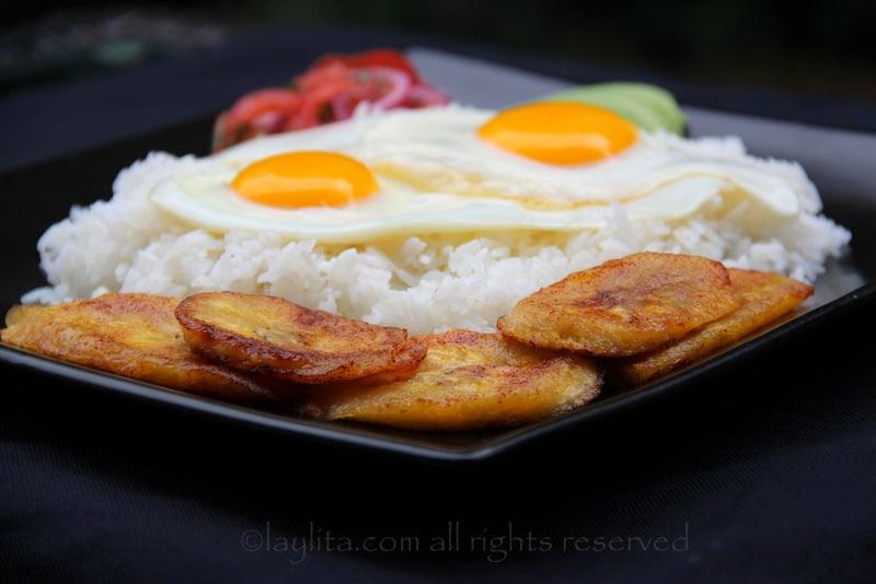 Arroz con huevo or rice with egg