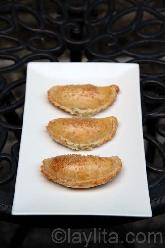 Baked cheese empanadas