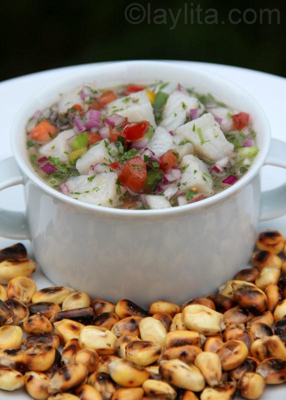 Ceviche de pescado or fish ceviche recipe for Fish ceviche recipe