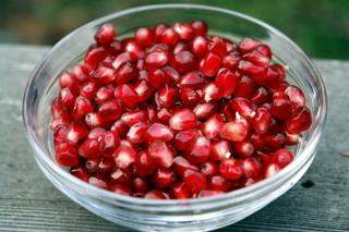 Fresh pomegranate arils