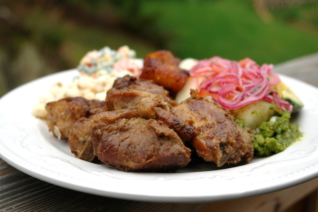 Fritada de chancho or Ecuadorian braised pork fritada