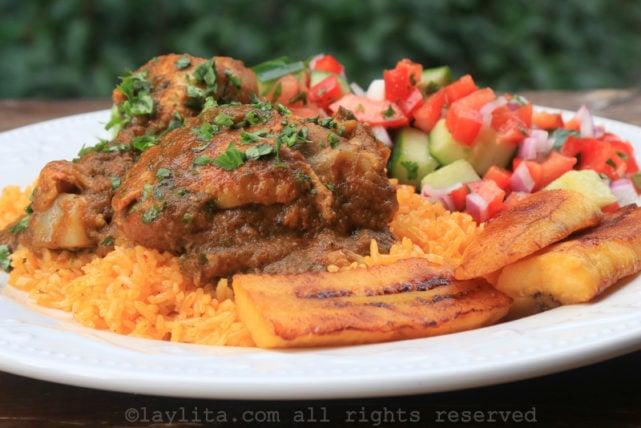 Ecuadorian seco de pollo or chicken stew