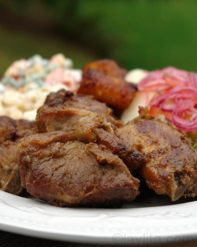Fritada de chancho or Ecuadorian braised pork