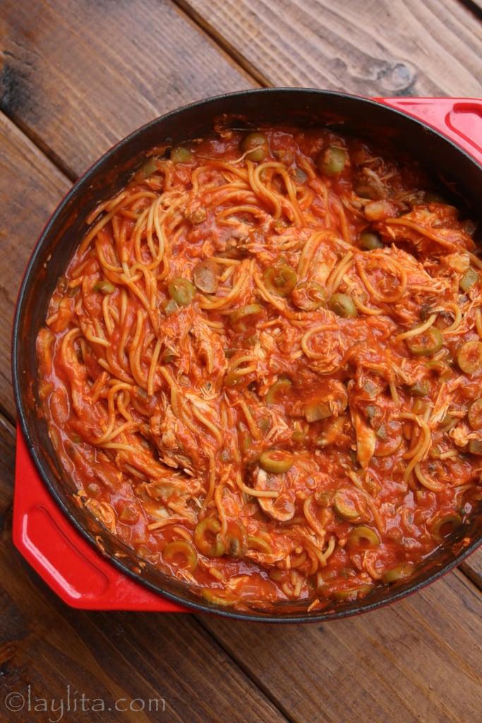 Grandma's chicken spaghetti