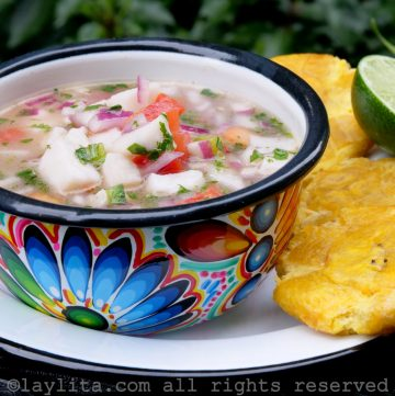 How to make Ecuadorian fish ceviche - easy recipe