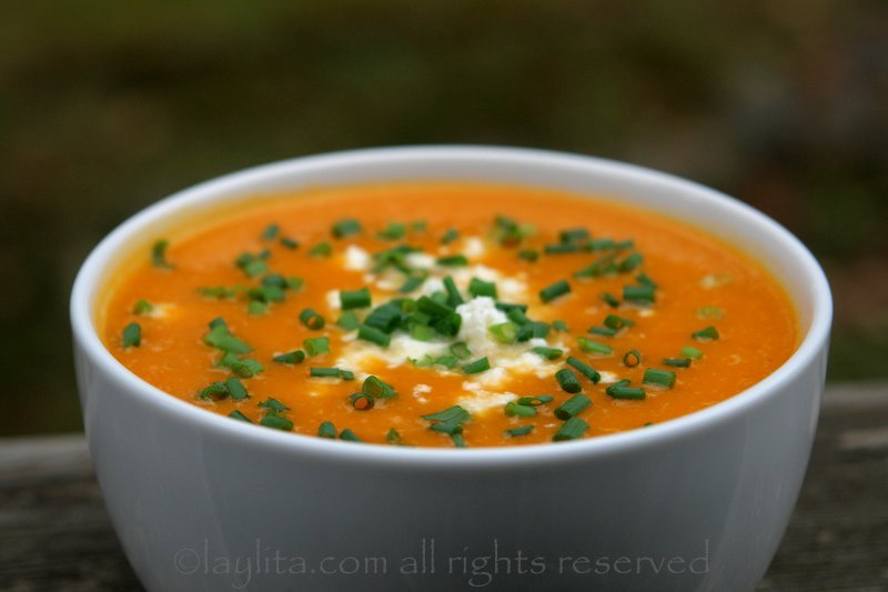Pumpkin or squash soup {Sopa de zapallo}