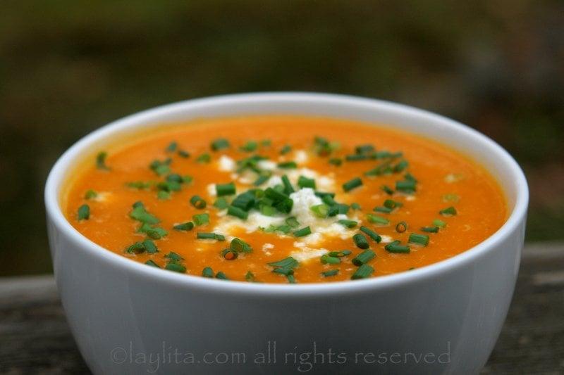 Pumpkin or squash soup {Sopa de zapallo}