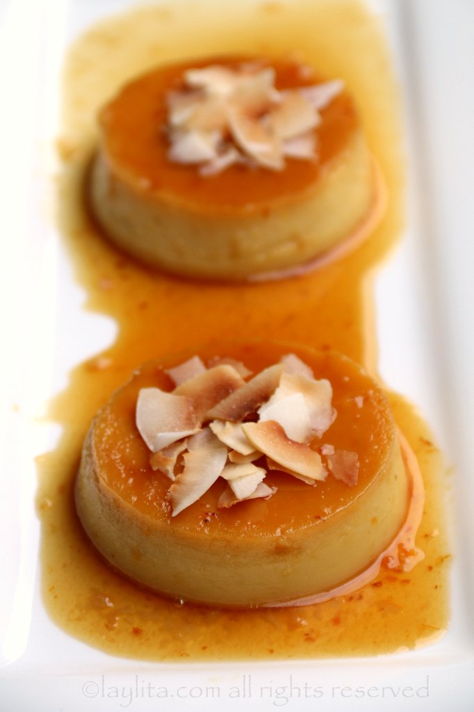 Recipe for coconut flan