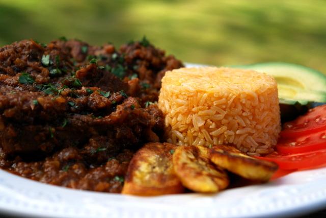 Braised goat stew {Ecuadorian seco de chivo}