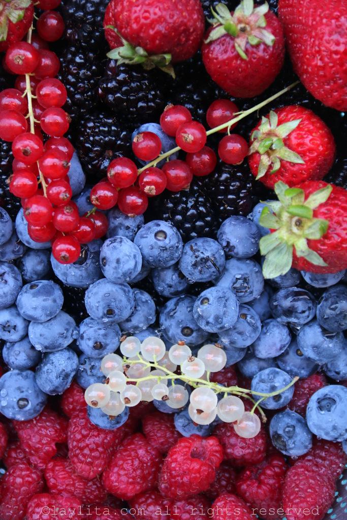 Summer berries for dessert