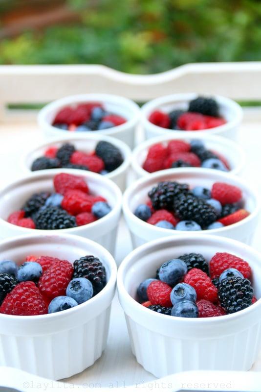 Summer berry desserts