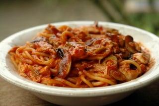 Spaghettis aux volailles