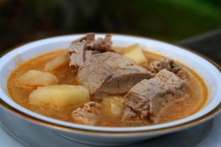 Encebollado de atun or tuna soup
