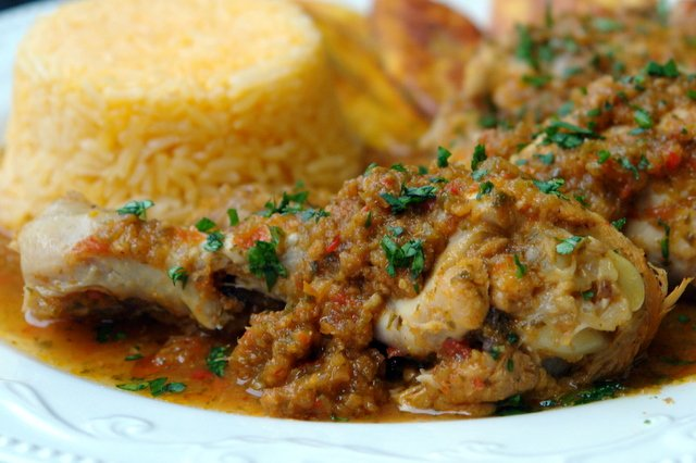 Seco de pollo or Ecuadorian chicken stew