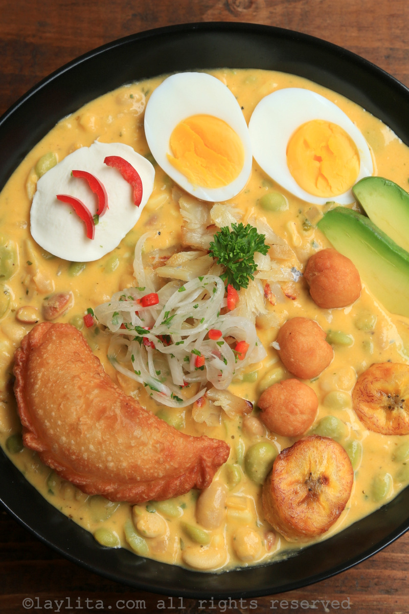 Ecuadorian Easter soup or fanesca