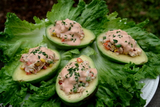 Avocado stuffed with tuna