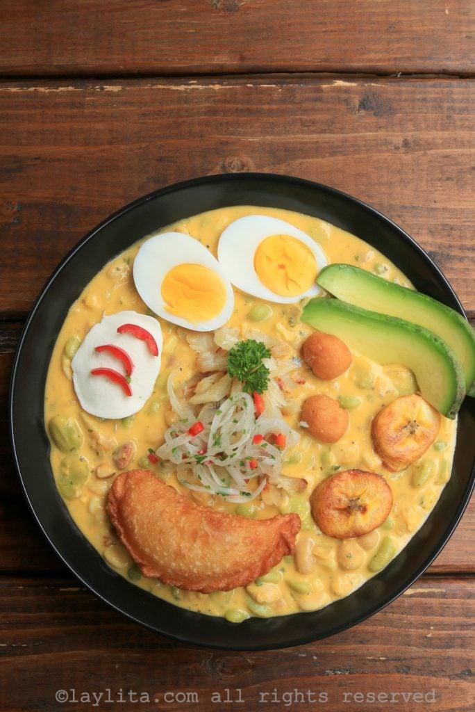Ecuadorian soup for Lent and Easter