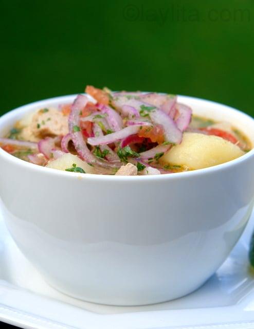 Encebollado fish soup