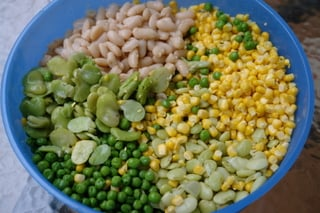 Grains for fanesca preparation