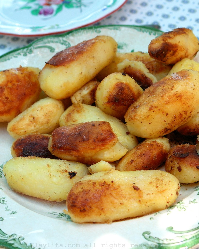 French style potatoes pan fried in butter