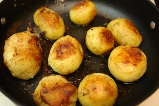 Potatoes sauteed in butter