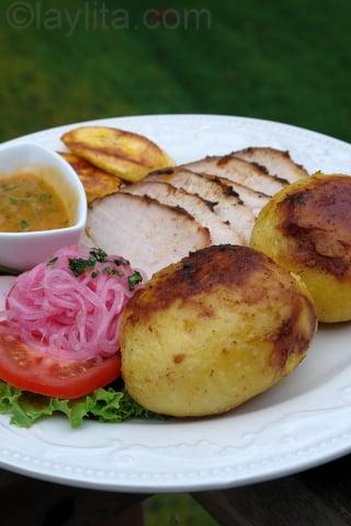 Servir le porc style sud américain
