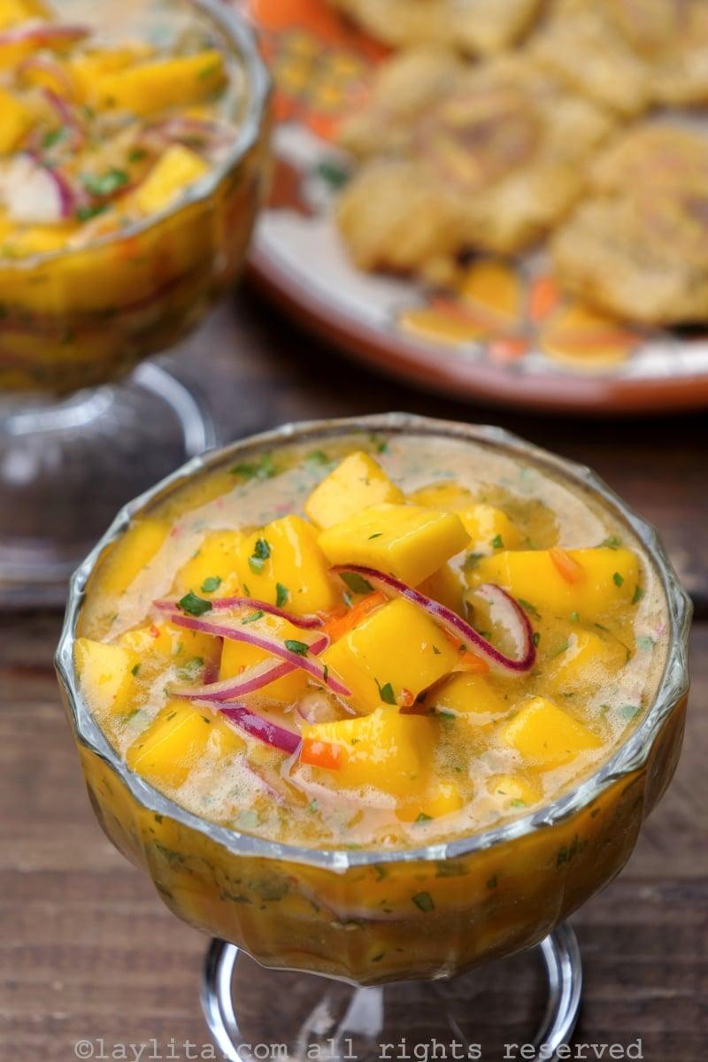 Spicy mango ceviche