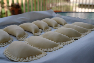 Refrigerate the empanadas for an hour before frying
