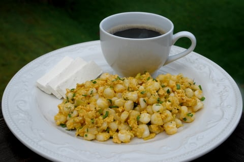 Ecuadorian hominy dish