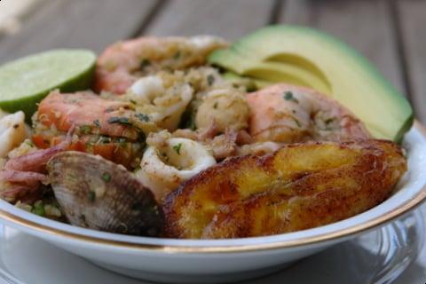Quinua marinera or seafood quinoa