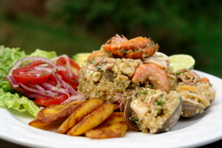 Seafood quinoa