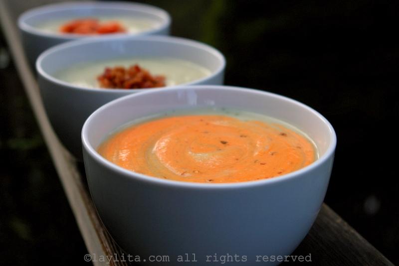 Celeriac or celery root cream soup