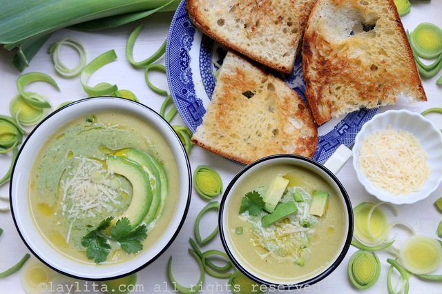 Simple leek and potato soup recipe