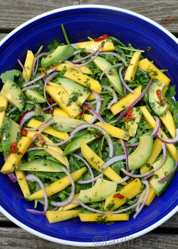 Mango, avocado and arugula salad » Mango-avocado-salad-recipe