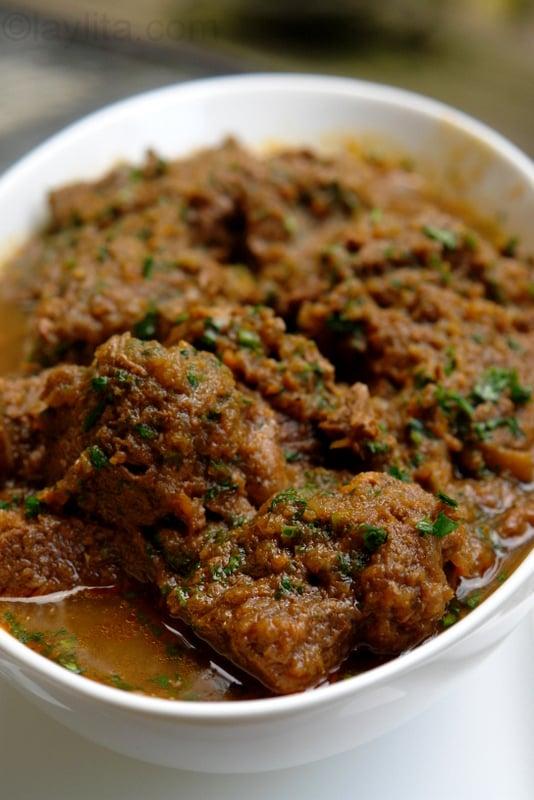 Ecuadorian lamb stew {Seco de borrego}