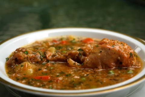 Ecuadorian chicken rice soup