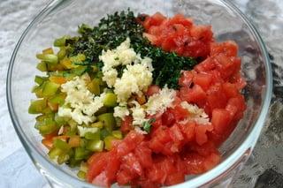 Chicken rice soup preparation