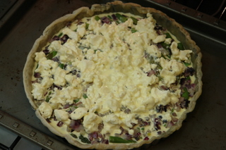 Asparagus goat cheese tart preparation